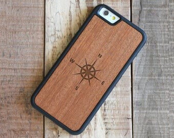 iPhone 7 Wood Case, Laser Engraved Wood iPhone 7 Case