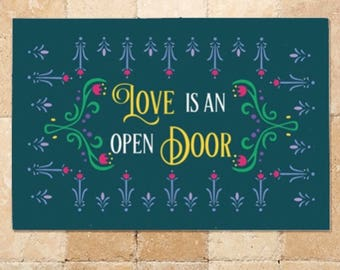 Frozen Inspired Welcome Mat