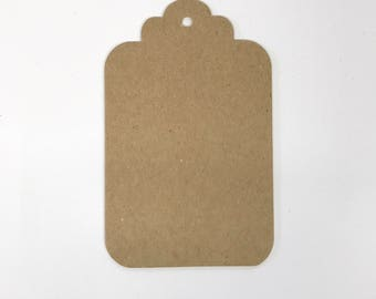 "Chipboard tag, Heavy weight chipboard, Kraft brown, 3 1/8"" x 5"" Jumbo size tags,"