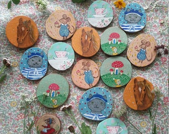Whimsical Refrigerator Magnets