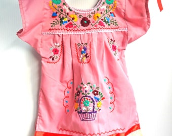 Pink Mexican baby girl clothes