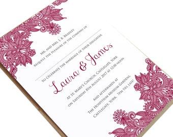 Henna Wedding Invitation, Indian Wedding, Mehandi, Paisley Wedding Invitation, Henna Invite, Hindi Wedding, SAMPLE