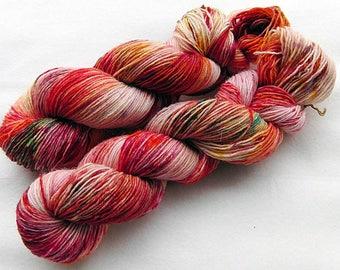 Handdyed SockYarn, 75 Wool, 25 Nylon 100g 3.5 oz. Nr. 154