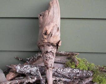 Natural Driftwood Piece Large Knot - Sculpture - Display - Craft Supply - Carving - Zen Garden DW 83
