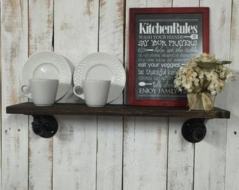 ON SALE Farmhouse Kitchen Shelf-Farmhouse Kitchen Decor-Farmhouse Decor