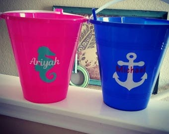 Personalized Bucket, Personalized Beach Bucket, Personalized Pail and Shovel, Personalized Pail, Beach Bucket,  Beach Pail, Sandbox Toys