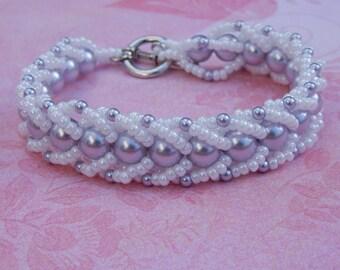 Crystal Pearl St. Petersburg Bead Work Bracelet