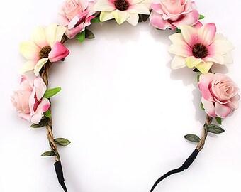 Bachelorette Flower Crowns  You Choose your Colors  Bachelorette Party  Bachelorette Party Favors