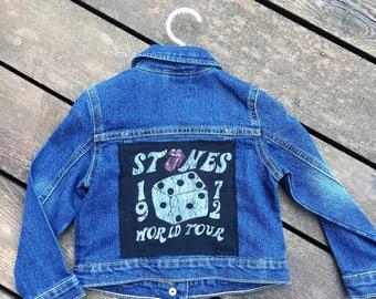 vintage Rollingstones tshirt toddler denim jacket
