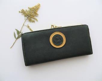 80s Tilley Deerskin Wallet Checkbook Kisslock Bifold Soft Lush Leather Money Holder Made in Canada