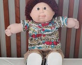 Cabbage Patch doll, Vtg 1982 cabbage patch kid, CPK, Original Appalachian Artworks, cabbage patch boy, Mattel, red auburn hair, brown eyes