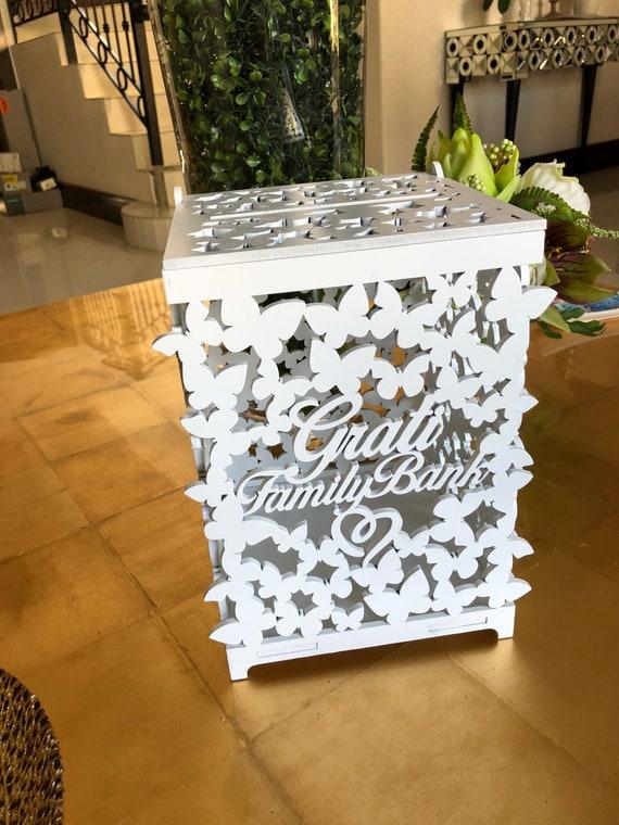 Gift card box,wedding card box, wedding money box, wooden wedding ...