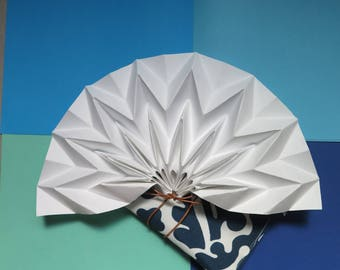 Beautiful hand fan with case, Design for her, summer accessory, wedding accessories
