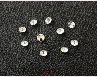 10 x rhinestone decor diamond shape table new year's Eve or Christmas jewelry crimp size 4.5 mm