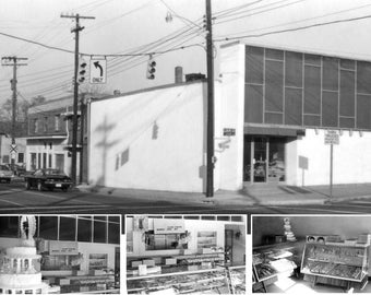 NoDa North Charlotte Bakery - now Boudreaux's restaurant, Original Black & White Photography Print,  8 1/2 X 11