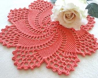 Crochet Placemat Crochet Doily Round Placemat Home Decor Tablecloth Crochet Tablecloth Women Gift