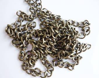 7mm bronze metal chain 50 cm
