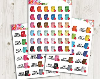 Lunch Stickers - ECLP, Happy Planner, TN Planner Stickers