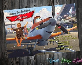 Personalized // Custom // Disney Planes Birthday Party Invitations  // DIY Printable File