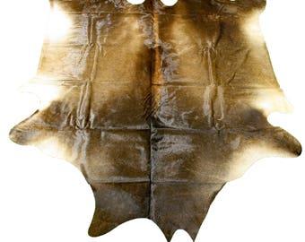 Glacier Wear Cow Hide Leather Hair-On Rug #010
