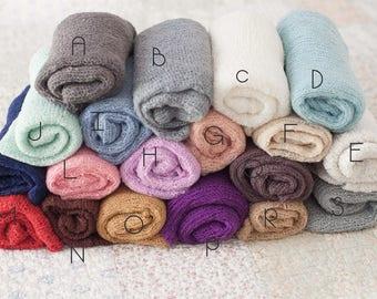 Newborn Stretch Wraps, Pink Baby Wrap, Purple Newborn Layering Fabric, Great Photography Prop
