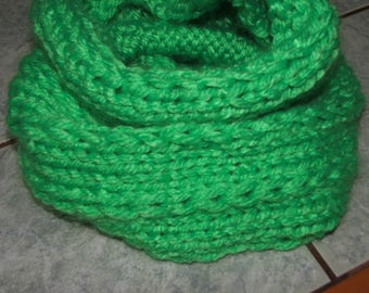 Neon Green Snood - hand made - other neon colors pink, orange and yellow