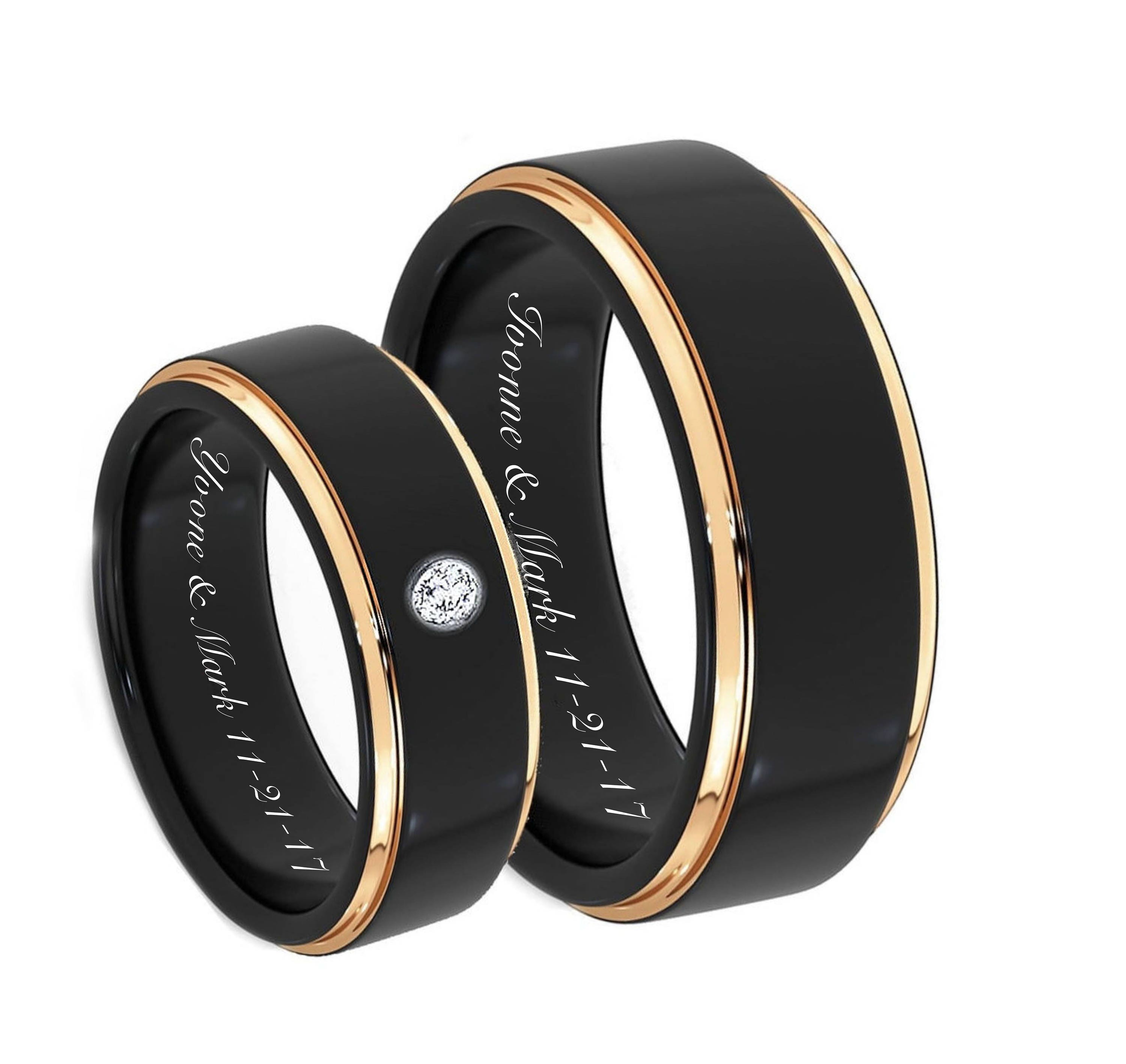 engraved promise rings personalized ring engraved wedding. Black Bedroom Furniture Sets. Home Design Ideas