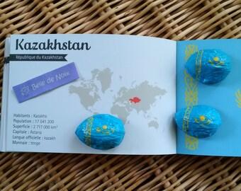 Flag Magnet Kazakhstan