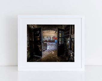 Abandoned Psych Ward Fine Art Photography Print Children's Room Abandoned Building Abandoned Places Urban Decay Urban Exploration Wall Art
