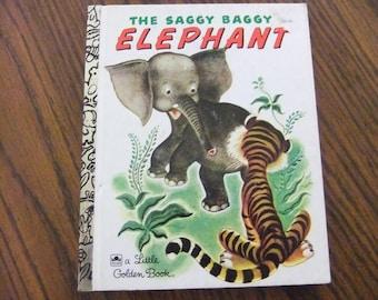 THE SAGGY BAGGY Elephant Little Golden Book