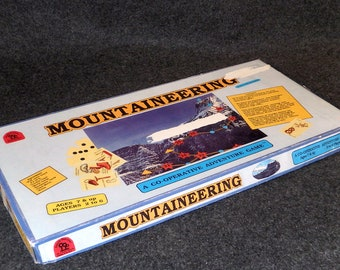 Vintage Mountaineering Board Game - A Co-operative Adventure Game for the Entire Family