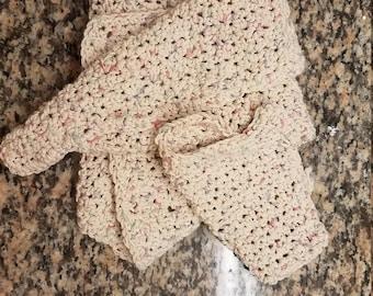 Handmade 100% Cotton Dish towel and cloth set.