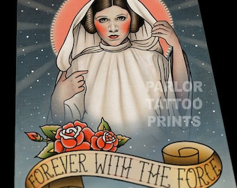 Princess Leia Memorial Flash Art Print
