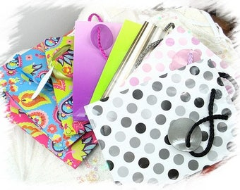 colors vary in glossy gift bag