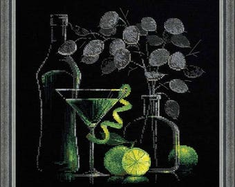 Still Life with Martini - Cross Stitch Kit from RIOLIS Ref. no.:1240