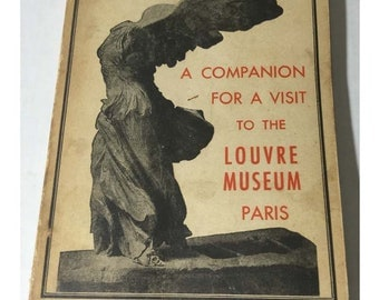 Original 1951 Guide book for the Louvre Museum in Paris France