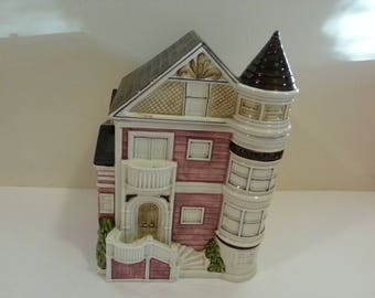 Otagiri Japan Ceramic Victorian House Cookie Jar