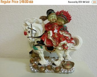 On Sale - Chinese Sculpture with White Horse