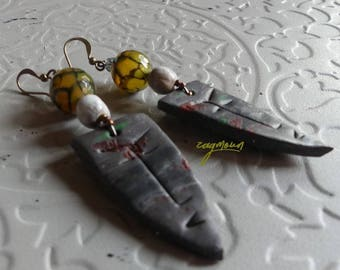 Jewelry earrings creation unique polymer clay