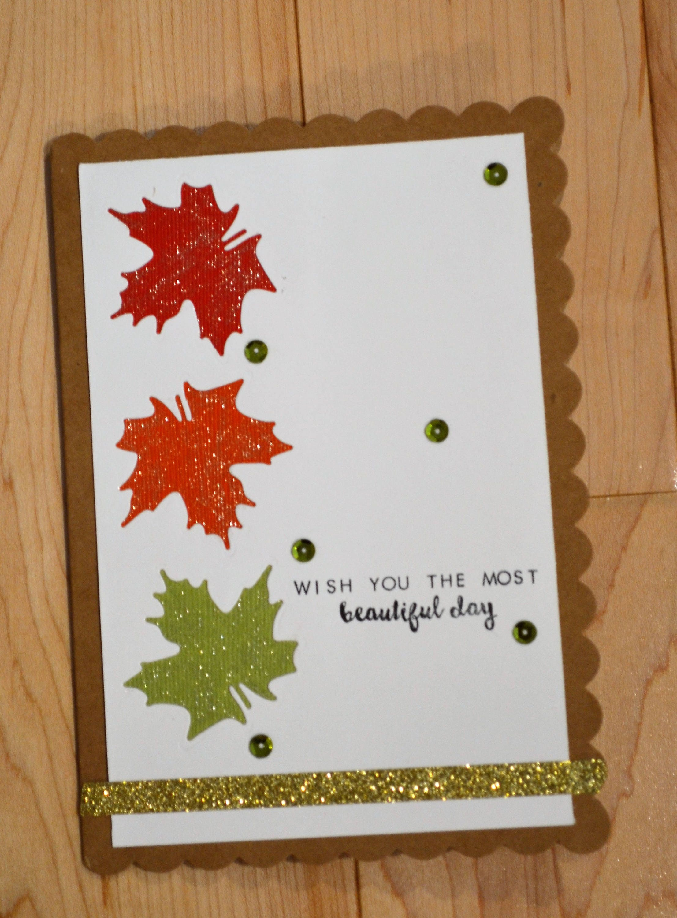 Handmade fall greeting card islamic greeting card sending hugs handmade fall greeting card islamic greeting card sending hugs card fall leaves handmade m4hsunfo