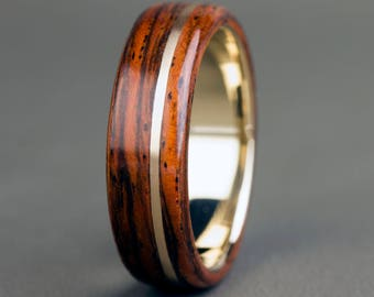Santos Rosewood with 14K Offset Yellow Gold Inlay and Base