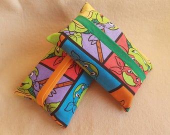 Teenage Ninja Turtles inspired travel tissue holder