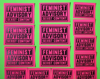 Feminist Advisory Sexist Content Sticker Pack 14pc