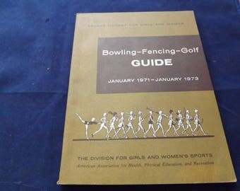 Sports Library Book Bowling-Fencing-Golf Guide