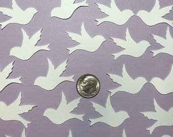 Mini Dove Die Cuts, bird confetti- baby shower- wedding-table decoration 50 count