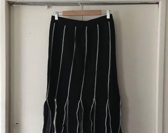 Black and grey knit carwash skirt