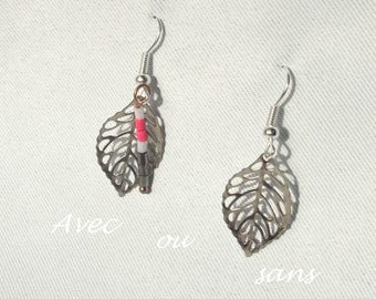Earrings, silver, jewelry