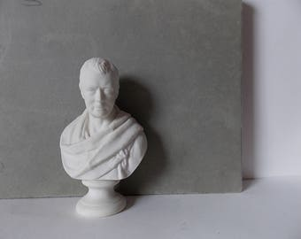 Antique Sir Walter Scott Bust Parian Ware Figurine by WH Goss Made in England