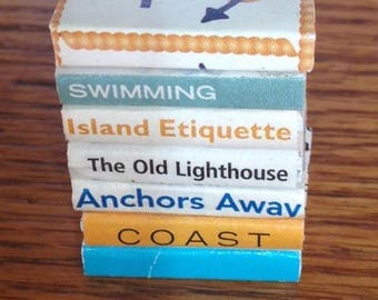 Beach themed collection of dollhouse miniature books