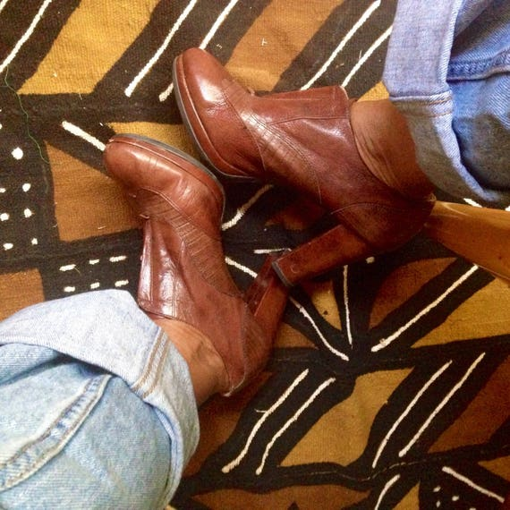 Leather Booties by Naturalizer
